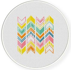 FREE for Aug 22nd 2014 Only - Chevron Cross Stitch Pattern