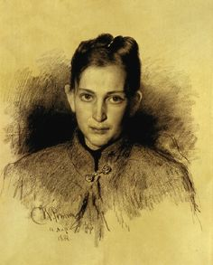 Ilya Repin, Portrait of O.A.Makarova, 1888 on ArtStack #ilya-repin #art
