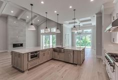 Transitional Kitchen with World's Fair 6 x x Luxury Vinyl Plank in Paris by Shaw Floors, Pendant light, Flush Luxury Vinyl Plank, Transitional Kitchen, World's Fair, Floors, Home Improvement, Paris, Pendant, Design, Home Decor