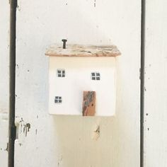 White Wooden House £12.50  Miniature wood house made from reclaimed wood.