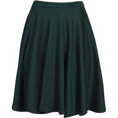 Boohoo Jess Skater Skirt ($14) ❤ liked on Polyvore featuring skirts, midi skater skirt, skater skirt, maxi pencil skirt, high waisted skater skirt and floral skater skirt