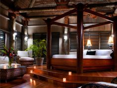 Romantic bedroom / Lalati Resort and Spa in Fiji Dream Bedroom, Master Bedroom, Bedroom Decor, Bedroom Ideas, Bedroom Retreat, Bedroom Designs, Master Suite, Boudoir, Interior And Exterior