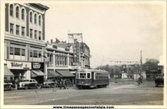 old massachusetts photographs | Old Dorchester Massachusetts Downtown & Electric Street Car Photograph