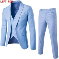 Suits Men 2019 Brand Mens Suits Wedding Groom Plus Size Blazer 3 Pieces(Jacket+Vest+Pant) Slim Fit Casual Tuxedo Suit Male Mens Casual Suits, Dress Suits For Men, Mens Suits, Men Dress, Blazer Dress, Blazer Suit, Casual Menswear, Casual Blazer, Business Fashion