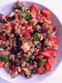 Spelt Berry Salad with Balsamic Maple Dijon Vinaigrette | katesfoodfortheweek.blogspot.com