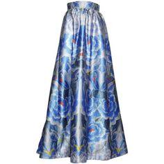 Temperley London Women Floral Printed Satin Skirt