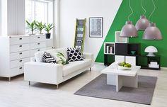 Kodin1, Elämäni koti, Mausta moderni olohuone vihreällä #elamanikoti