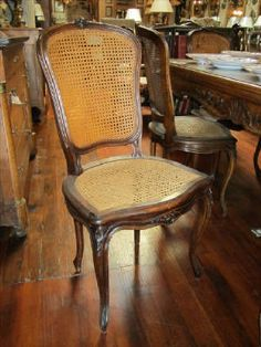 """Set of 8 Antique French Louis XV style caned dining room chairs $3200 19.5""""x18""""x38"""""""