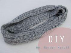Aprender a hacer punto: DIY Bufanda cerrada. Como hacer bufanda con dos agujas
