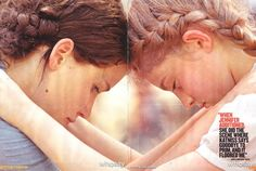 Katniss and Prim the way they are hugging they make a heart!
