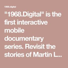 is the first interactive mobile documentary series. Revisit the stories of Martin Luther King, The Beatles, Mao Zedong, and others as the fight for human rights unfolds right on the screens of your mobile phone. Martin Luther King, Human Rights, Documentary, Screens, The Beatles, Digital, Phone, King Martin Luther, The Documentary