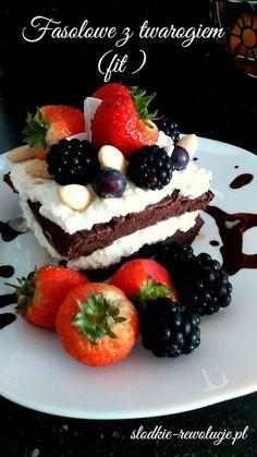 Słodkie Rewolucje: Fasolowe z twarogiem (fit) Waffles, Cheesecake, Sugar, Dinner, Breakfast, Healthy, Fit, Desserts, Cook