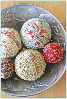 shabby fabric balls