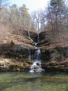 Thunder Falls, Dogwood Canyon Nature Park - Lampe, Missouri ~ Dustin Holmes, photographer
