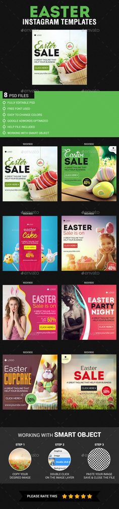 Easter Instagram Templates - Banners & Ads Web Elements Download here : https://graphicriver.net/item/easter-instagram-templates/19579500?s_rank=83&ref=Al-fatih