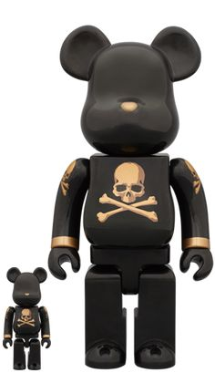 BE@RBRICK mastermind JAPAN BLACK & GOLD 100% & 400%