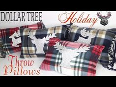 DIY No Sew Pillows | DIY Dollar Tree home decor |DIY Monogram Pillows|DIY Christmas Pillows - YouTube