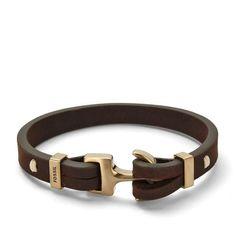 Bracelet cuir pour homme fossil