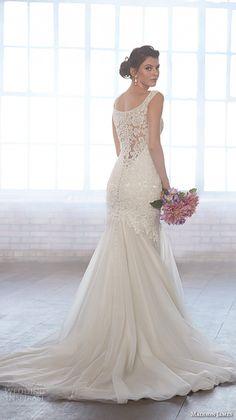 MADISON JAMES fall 2015 #bridal sleeveless scoop neckline lace embroidery bodice tulle skirt beautiful mermaid #wedding dress style mj151