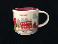 Starbucks London Mug YAH Bus Big Ben Tower Bridge Cup You Are Here England UK #Starbucks