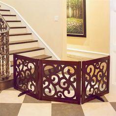 paisley folding wooden pet gate - Doggie Gates