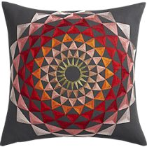 """lotus embroidered 18"""" pillow 49.95"""