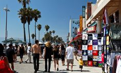 Venice Beach Boardwalk Los Angeles Roadtrippers California