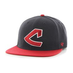 low priced da050 1736a Cleveland Indians Hole Shot Two Tone Navy 47 Brand Hat
