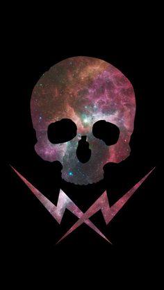 galaxy skull background ♡ | via Tumblr