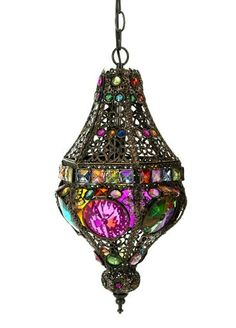 Cool Lighting – The Bottom Drawer Antique & Home Decor CentreMorroccan Hanging Light This stunning multicoloured Lamp comes complete with wiring and is ready to hang and measures x . Gypsy Decor, Boho Gypsy, Bohemian Decor, Bohemian Lighting, Moroccan Lighting, Bohemian Style, Bohemian Furniture, Gypsy Style, Hippie Style