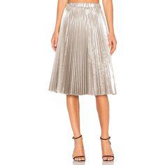 No. 21 Pleated Midi Skirt (£535) ❤ liked on Polyvore featuring skirts, midi skirt, calf length skirts, pleated midi skirts, pleated skirt and knee length pleated skirt