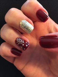 Sally Hansen Red Zin, and Essie Hors d'oeuvres.