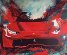 Kunstsamlingen   Artist: Lise Højer   Title: Ferrari - Kunstnerisk Visionboard   Height: 100cm,  Width: 120cm   Find it at kunstsamlingen.com #kunstsamlingen #kunst #artcollection #art #painting #maleri #galleri #gallery #onlinegallery #onlinegalleri #kunstner #artist #danishartists #lisehøjer