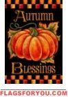 Autumn Blessings House Flag