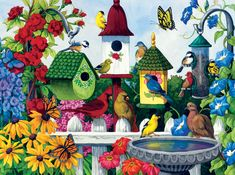 Art by Nancy Wernersbach. Birdhouse Heaven by SunsOut. 1000 pieces.