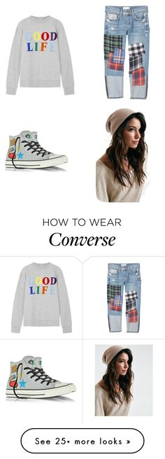 """Untitled #1476"" by pandagirlcdm on Polyvore featuring MANGO, Être Cécile and Converse"