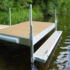 These boat dock accessories are constructed to last (like our docks) and are attractive, safe, and convenient. Connecticut, Floating Boat Docks, Lake Dock, Kayak Storage, Lakefront Property, Boat Lift, Boat Accessories, Rustic Design, New Homes
