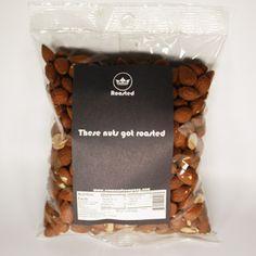 1 Lb Roasted Almonds $12.50 #almond, #bake, #snack, #lunch, #californiaalmondsroasted-crown-nut-comany-almonds-nuts