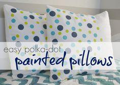 Polka-dot Painted Pillows