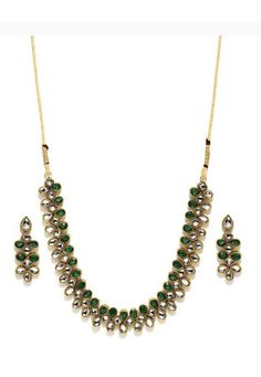 Shop Green Alloy Austrian Diamond Necklace Set Earrings 199002 online from huge collection of indian ethnic jewellery at Indianclothstore.com. Diamond Necklace Set, Turquoise Necklace, Ethnic Jewelry, Jewellery, Marriage Anniversary, New Years Sales, Green Fabric, Color Shades, Indian Ethnic