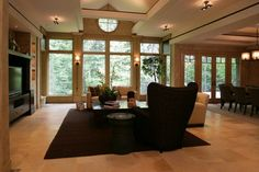 prairie style windows for living rooms | all rooms living photos living room