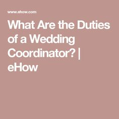 Day of wedding coordinator duties checklist wedding coordinating what are the duties of a wedding coordinator ehow junglespirit Images