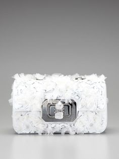3D Lace Large Turn-Lock Clutch by Marchesa Handbags on Gilt.com
