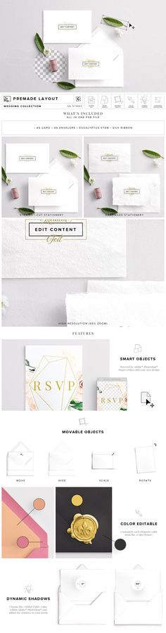 Invite & Envelope Mockup by Custom Scene on @creativemarket