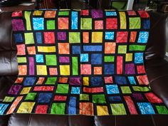 Hoosier Homestead: Stained Glass Quilt