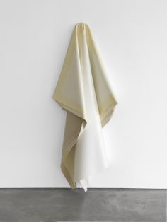 Angela de la Cruz _ Deflated (white) 2011