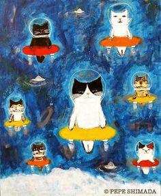 space cats | pepe shimada