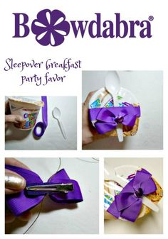 Make a quick and easy sleepover breakfast party favor  Bowdabra Blog