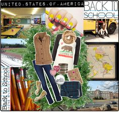 """""""Back to School - USA"""" by veronica-sinetti on Polyvore"""