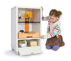 Qute Gerbil House with Handy Storage Compartment For Your Food And Bedding